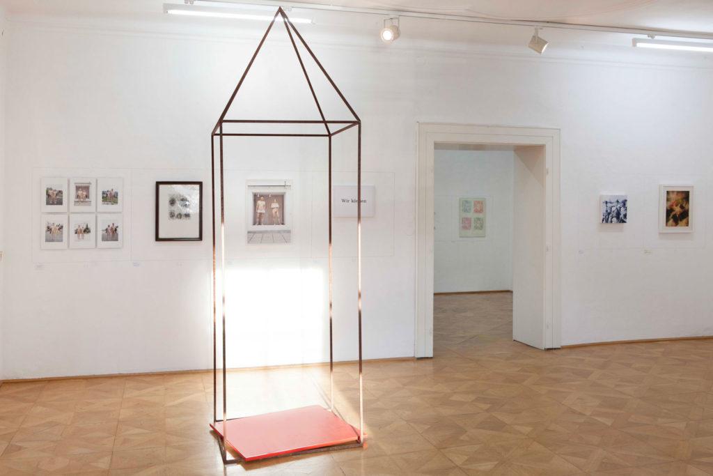 Ausstellungsansicht DIE FORUM Werbeträger Gemeinschaftsprojekt Gerhard Brandl und Renate Billensteiner
